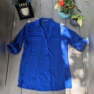 Bright Blue Original Fit Portofino Shirt